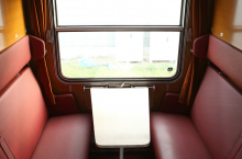 Interier vozu Bac - oddíl s možností instalace stolku
